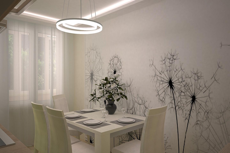 дизайн квартиры, дизайн однокомнатной квартиры, дизайн интерьера, интерьер квартиры, дизайн кухни, кухня в салатовых тонах