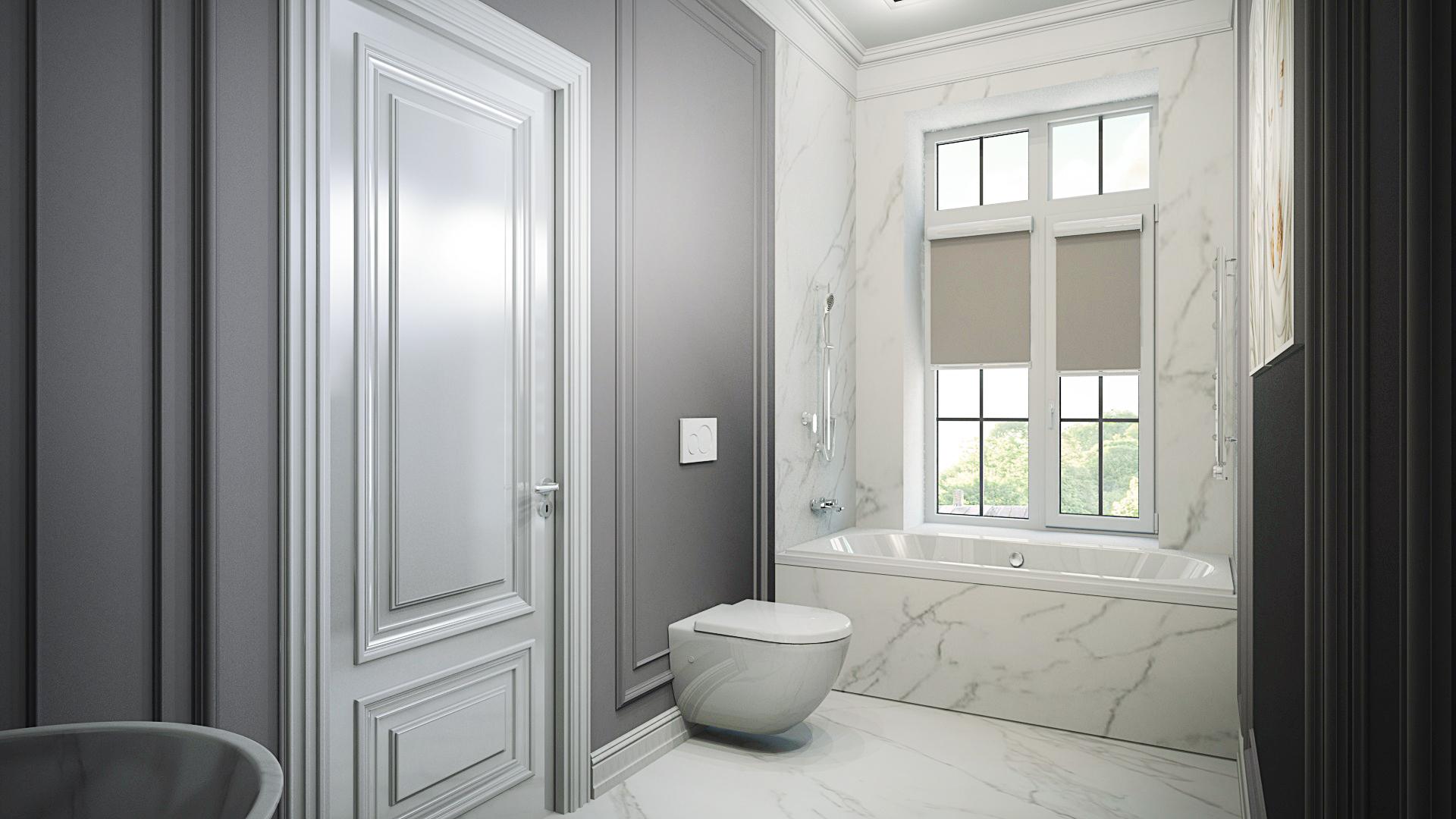 дизайн ванной, ремонт ванной под ключ, дизайн интерьера, интеьрер ванной комнаты, ванная комнаита, ванная в неоклассическом стиле, ванная комната в современной классике