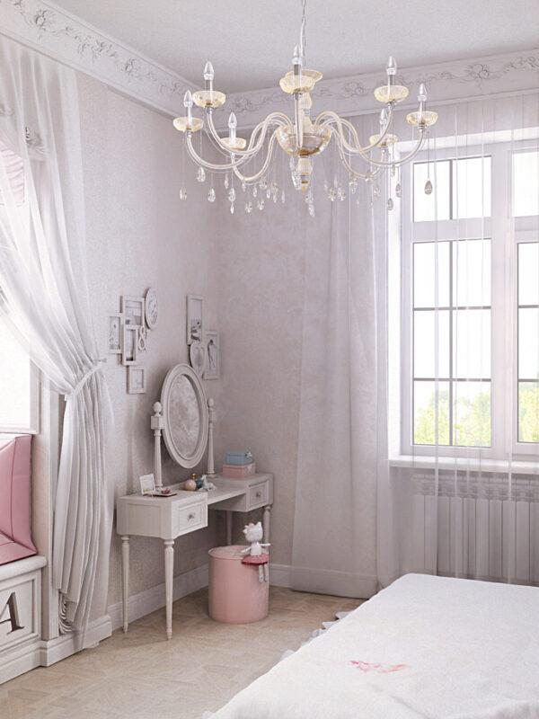 дизайн детской, розовая детская, интерьер детской комнаты, дизайн интерьера, дизайн квартиры, дизайн дома