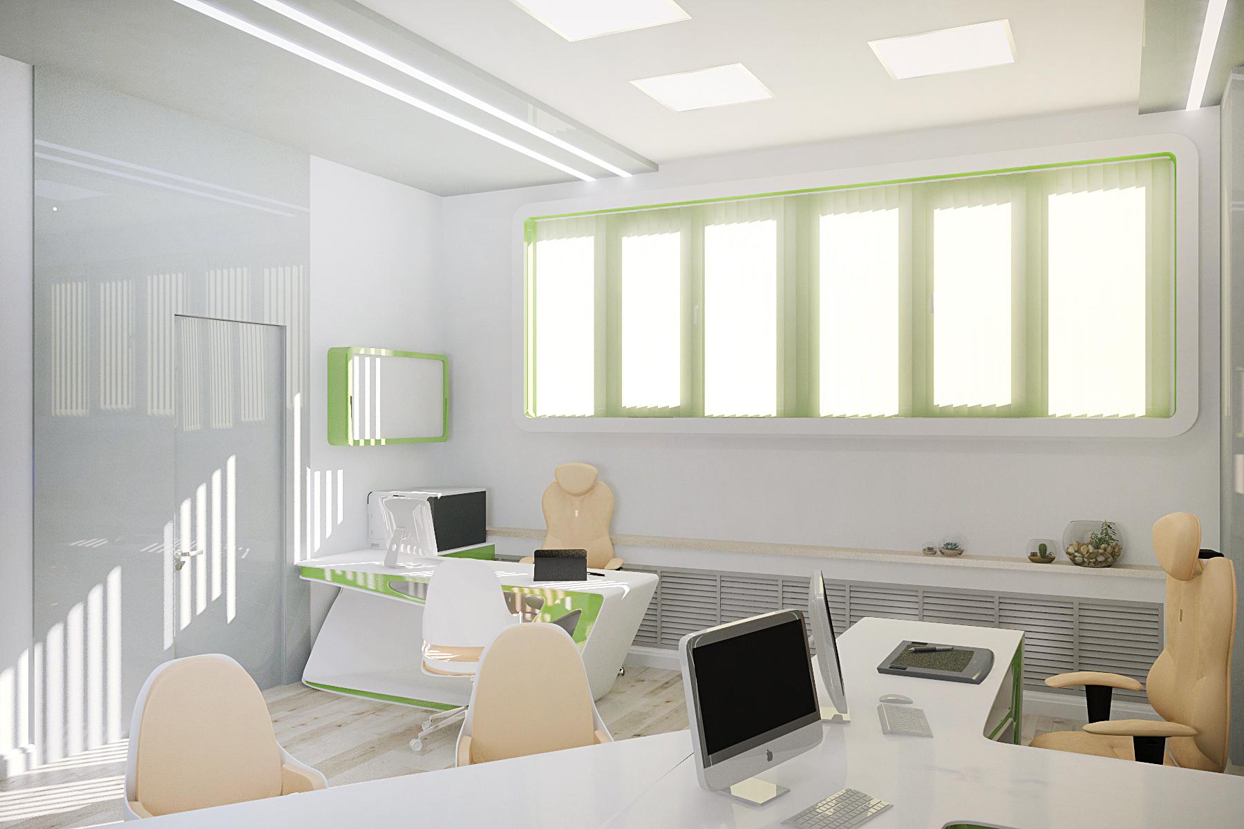 Офис в Футуристичном Стиле, дизайн интерьера, дизайн офиса под ключ, интерьер офиса