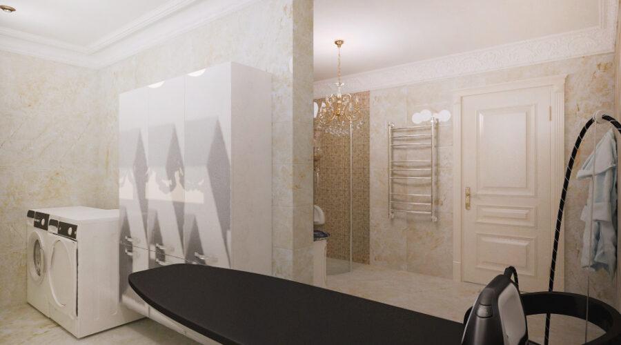 мозаика в душевой, дизайн ванной, дизайн постирочной, дизайн интерьера душевой, интерьер классической душевой, постирочная