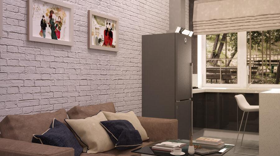 лофт, дизайн интерьера, интерьер в стиле лофт, кирпич в интерьере, второй свет