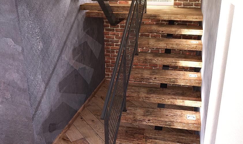 лестница в стиле лофт, дизайн лестницы, современная лестница, лестница в современном стиле, дизайн интерьера