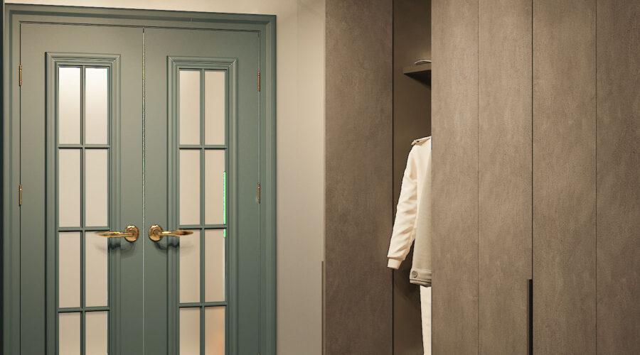 интерьер прихожей в однокомнатной квартире